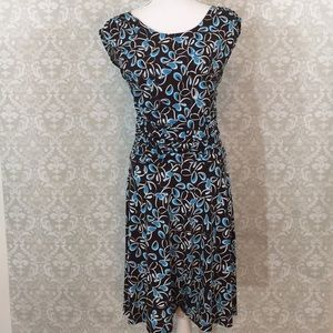 Enfocus Studio Size 8 Blue/brown/white dress
